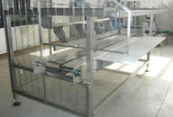 Machinery to loading trays with fresh dough into oven