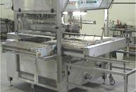 Enrobing machine with removable cart