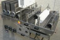 Sistema automatico per bagnatura pasta fresca, incluso di oliatrice e distributore semi